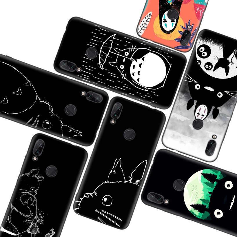 Studio Ghibli Totoro Black Case for Xiaomi Redmi Note 8T 9S 8 8A 7 ...