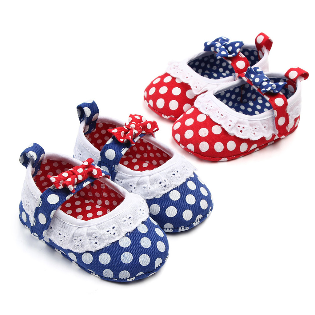Baby Infant Girls Indoor Soft-Soled Bow-Knot Princess Shoes Walking Shoes US