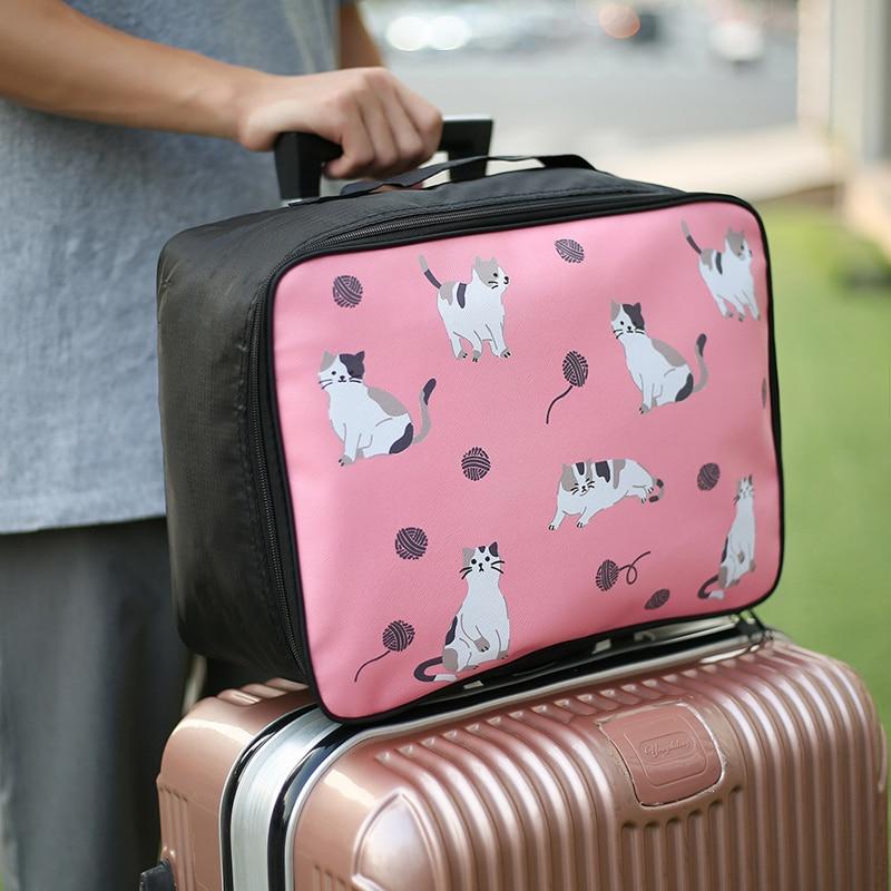 New Travel Cartoon Cosmetic Bag Portable Women's Makeup Cases Large Capacity Toiletry Storage Organizer Makeup Bags Boarding Bag