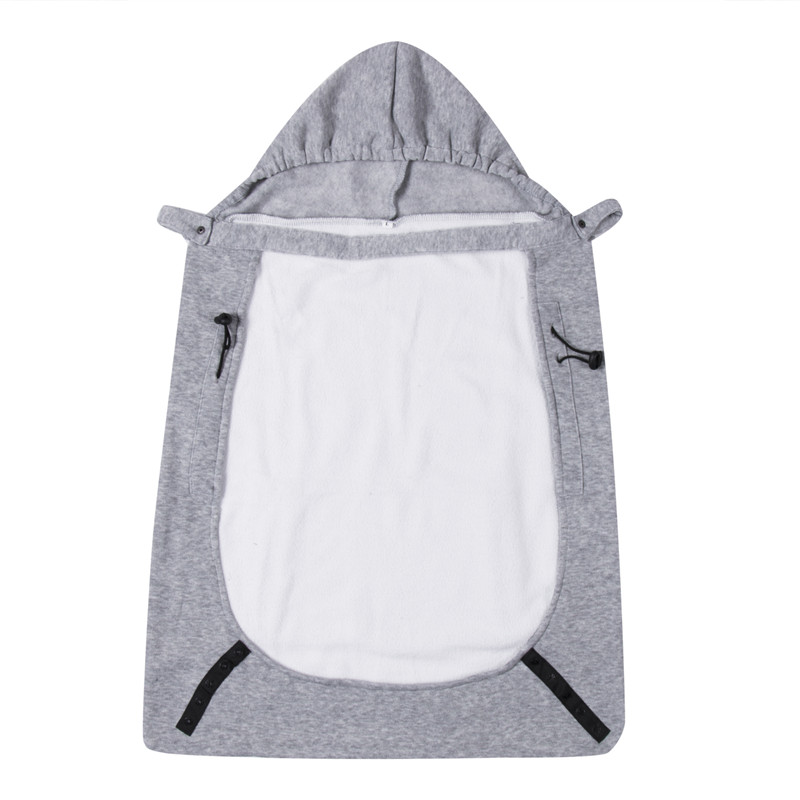 Baby Carrier Wrap Sling Windproof Baby Backpack Gray Blanket Kids Carrier Comfort Sling Warm Cover Cloak One Size