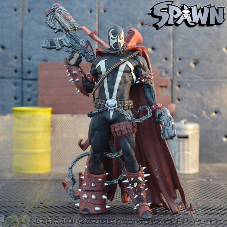 US Version Of The McFarlane Spawn Reggae Happy Red Robe Big Gun 7 Inch Movable Dolls Toy Model Scattered T55