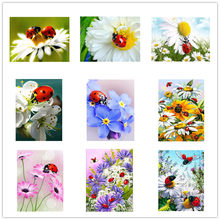 "Dpsupr 3D Diamond Painting ""Insect Flower scenery"" DIY Full Rhinestones Drill Cross-stitch Kits Square Round Diamond Embroidery(China)"