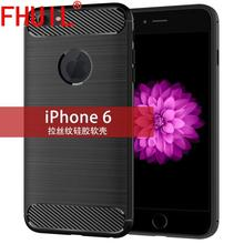 Ultra thin TPU Carbon Fiber Texture Silicon Case for iphone 6 rubber Covers shock proof cases case