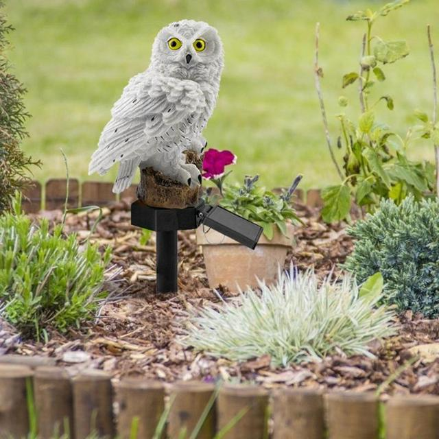 Owl Solar Light With Solar LED Panel Waterproof IP65 Outdoor Solar Powered Led Path Lawn Yard Garden Lamps Home Garden Decor 4