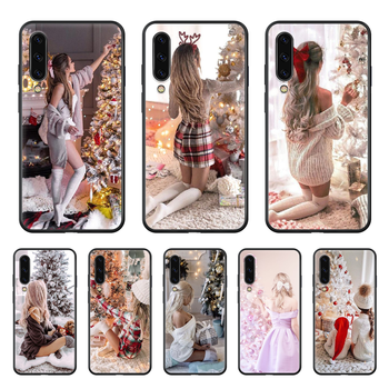 Christmas girl Phone case hull For Samsung Galaxy A 50 51 20 71 70 40 30 10 E 4G S black back painting hoesjes tpu funda trend image