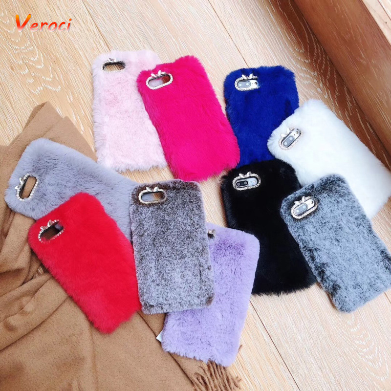 for <font><b>Huawei</b></font> P20 Lite P30 Pro Warm Fur <font><b>Case</b></font> for <font><b>Huawei</b></font> P8 P9 P10 Lite Plus P Smart <font><b>Y5</b></font> Y6 Y7 Prime Y9 <font><b>2018</b></font> 2019 Rabbit <font><b>Case</b></font> image