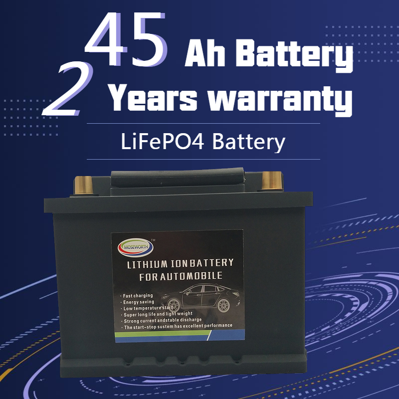 45AH Auto Battery LiFePO4 - Lithium Phosphate Ion Battery LBN1-45 12V 860CCA Size-230x175x190mm LiFePo4 Automotive Car Battery