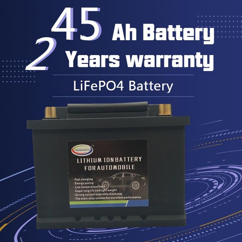 Batterie automatique d'ion de Phosphate de Lithium de la batterie LiFePO4 de 45AH LBN1-45 batterie des véhicules à moteur 12V 860CCA Size-230x175x175mm LiFePo4