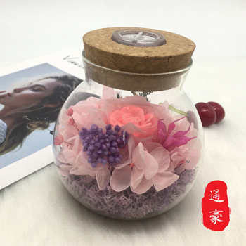 The Cork Nightlight Glass Eternal Rose Christmas Valentine's Day to Send His Girlfriend Creative Gifts Wholesale