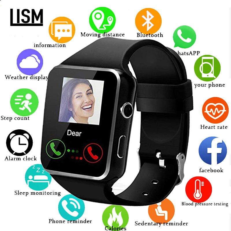 X6 Smart Watch Waterproof Bluetooth Support SIM Card Camera Fitness Phone Watches Men Women Smartwatch 2019 Version смарт часы