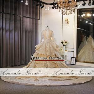 Image 5 - ใหม่หรูหรา Glitter ผ้างานแต่งงานชุดดูไบออกแบบ gowns แต่งงาน 2020