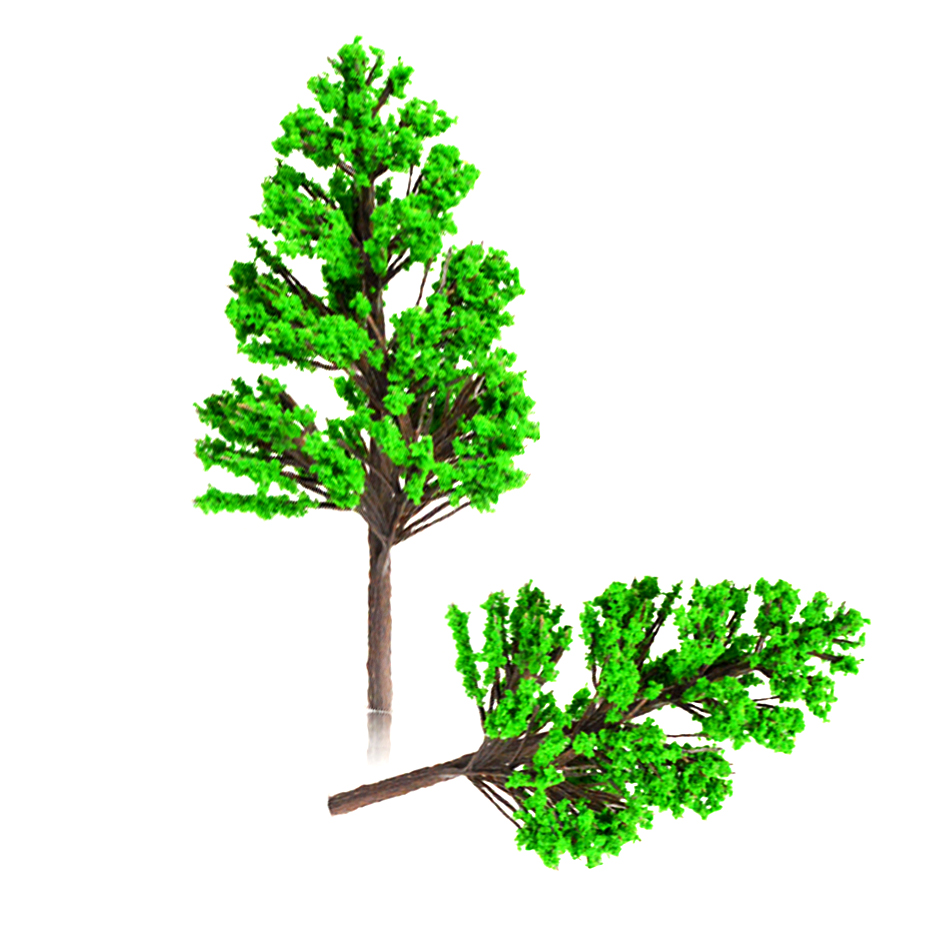 100pcs 4cm scale plastic model green trees toys ABS miniature color plants for diorama architectural forest scenery making in Model Building Kits from Toys Hobbies