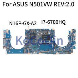KoCoQin laptopa płyta główna do asusa N501VW G501VW N501V GT960M 8GB płyty głównej REV: 2.0 SR2FQ I7 6700HQ N16P GX A2 testowane w Płyty główne do laptopów od Komputer i biuro na