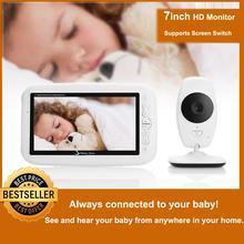 7 дюймов Беспроводной Детский Монитор 720P HD экран камера ночного видения Домофон Колыбельная няня детский видео монитор поддерживает переключатель экрана