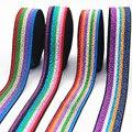 Эластичные ленты 25 мм, блестящая цветная резинка для горячего тиснения, сделай сам, тесьма для одежды, сумки, швейные принадлежности, 2,5 см в ...