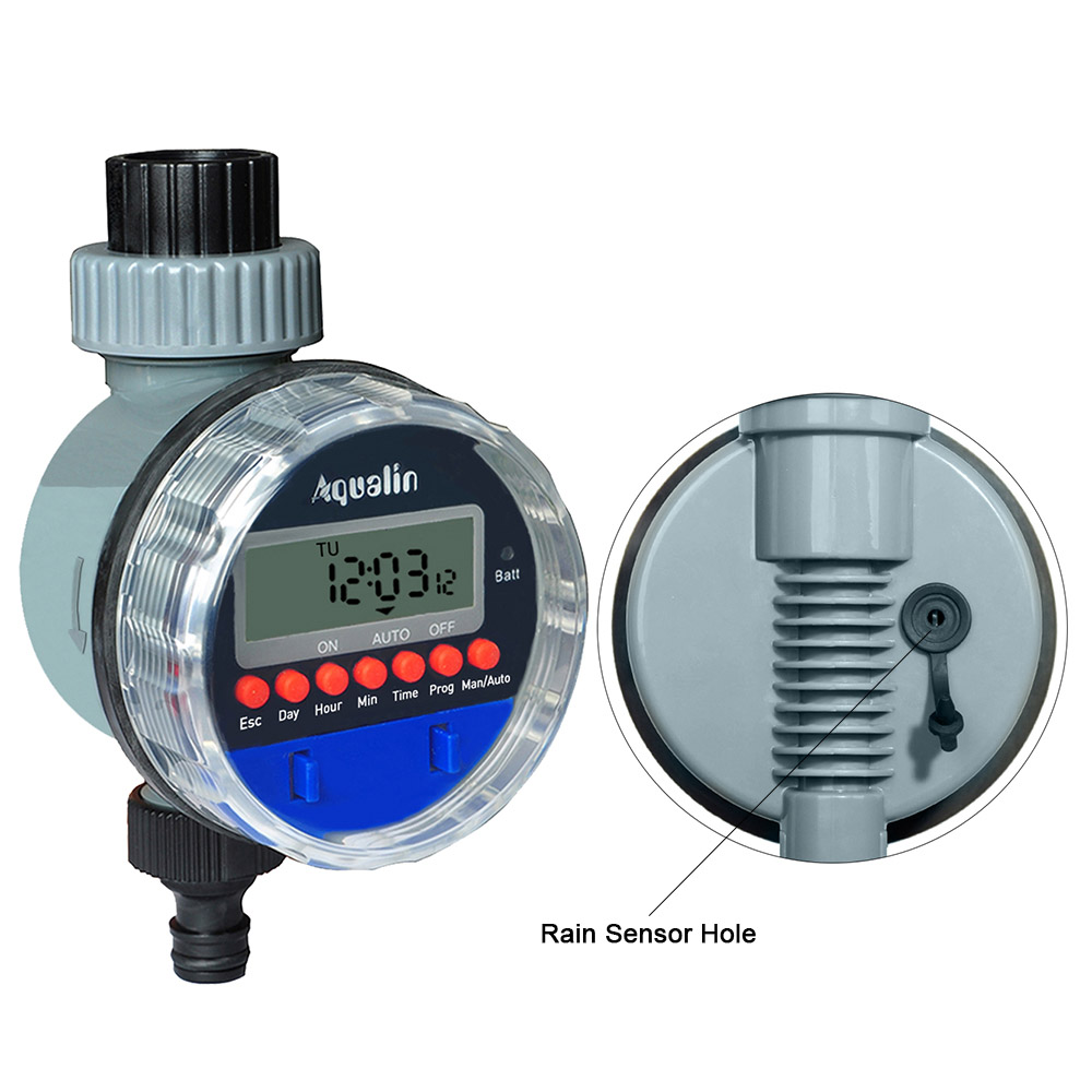 Automatic LCD Display Watering Timer Electronic  Home Garden Ball Valve  Water Timer For Garden  Irrigation Controller#21026 5