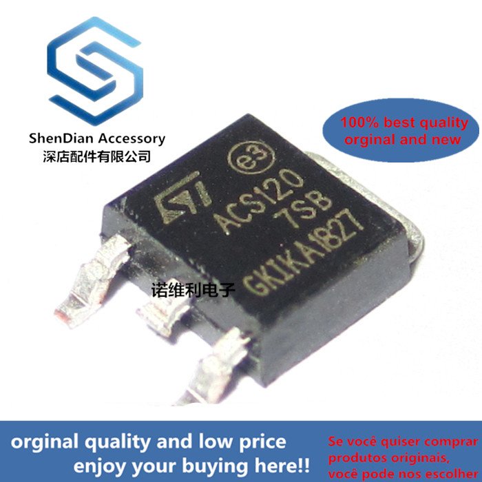 11pcs 100% Orginal New Acs120-7sb Acs1207s Acs12 TO-252 SMD Bidirectional Thyristor
