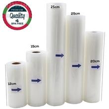 Keuken Voedsel Vacuümzak Opslag Tassen Voor Vacuum Sealer Vacuüm Verpakking Rolls 12/15/20/25/28Cm * 500Cm