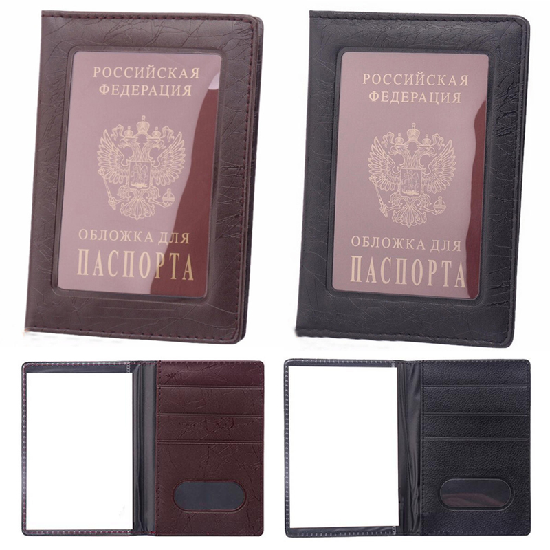 New Arrivals Vintage Clear Card ID Holder Case Transparent Russia Business Passport Cover Case for Travel Passport Bags