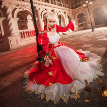 Sabre Cosplay Sem Casaco Arturia Pendragon Traje Anime Fate Stay Night Sabre Cosplay Fate Zero Nero Ubw Red Vestido(China)