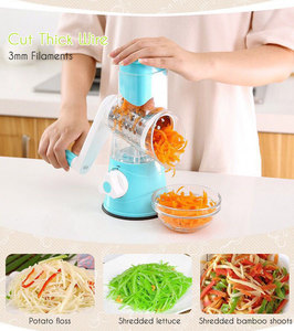 Image 4 - 3 in 1 Multifunction Vegetable Cutter Kitchen Round Mandolin Manual Potato Cheese Slicer Screwdriver Cooking Utensil Accessories