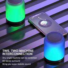 Wireless Bluetooth 5.0 Speaker Mini Audio-visual Loudspeaker Colorful Breathing Atmosphere Lights Waterproof Dustproof SoundBox(China)