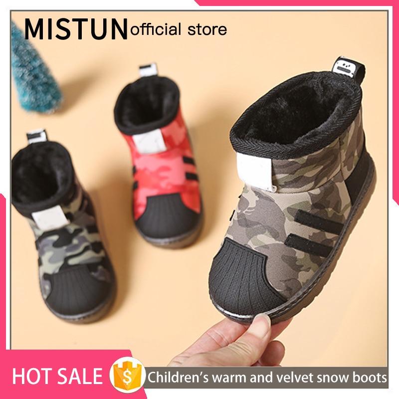 2021 winter new children's snow boots plus velvet non-slip boys waterproof cotton shoes girls short boots baby warm shoes 6