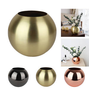 Stainless Steel Vase Home Decor Unbreakable Metal Flower Vase Living Room Decoration Golden Polished Flowerpot Minimalist Crafts