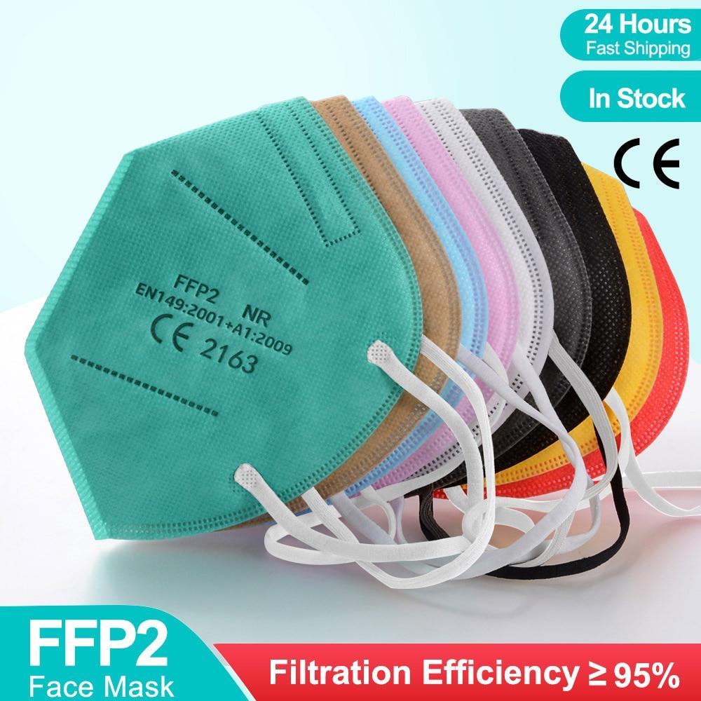 20-100 шт., маски ffp2ce, маски ffp2reиспользуемые цвета, защитная маска kn95, маска ffpp2, маски, сертифицированные kn95