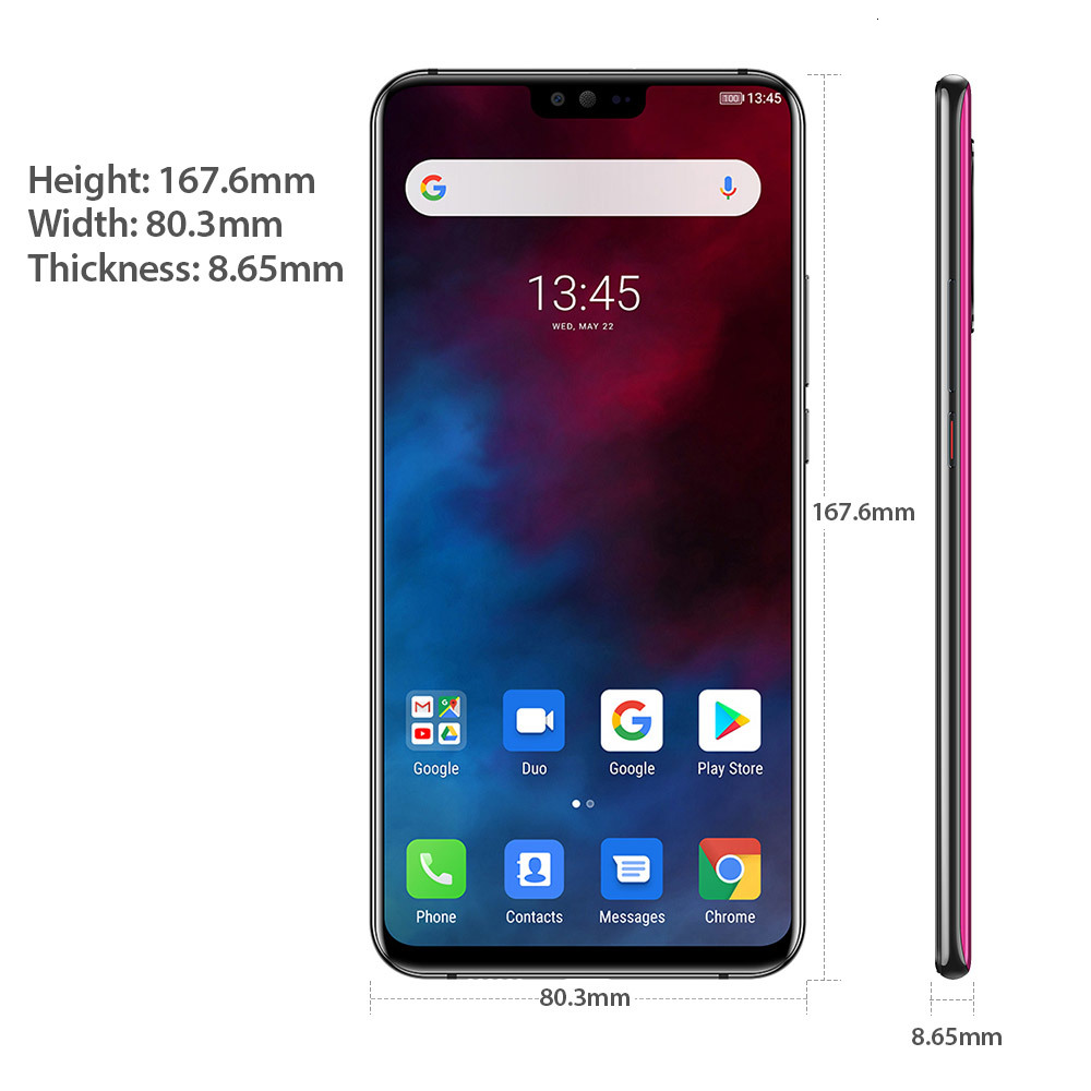 """Ulefone T2 NFC 6GB 128GB 4G Smartphone Dual 4G Android 9.0  P70 Octa-core Helio 4200mAh 6.7"""" 16MP wireless charge Mobile Phone"""