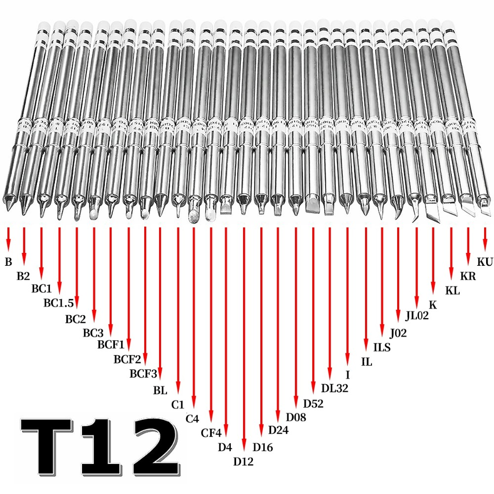 T12 série pontas de ferro de solda para hakko t12 lidar com led interruptor vibração controlador temperatura fx951 FX-952
