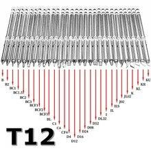 T12 série pontas de ferro de solda para hakko t12 lidar com led interruptor vibração controlador temperatura fx951 FX 952
