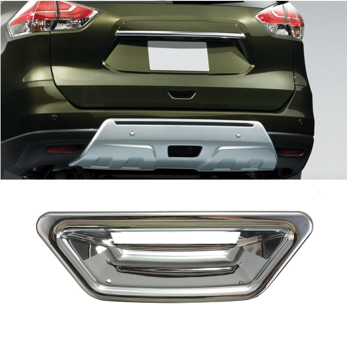 Car Rear <font><b>Door</b></font> Bowl <font><b>Handle</b></font> Cover Trim Chrome for <font><b>Nissan</b></font> Rogue <font><b>X</b></font>-<font><b>Trail</b></font> 2014 2015 2016 2017 Car Exterior Parts image