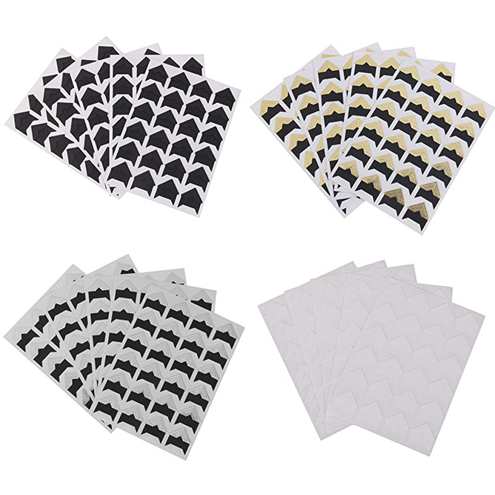 Picture Album Photos Mounting Sticker Photo Corners Stickers Self Adhesive for Family DIY Scrapbooking 120Pcs 5 Color