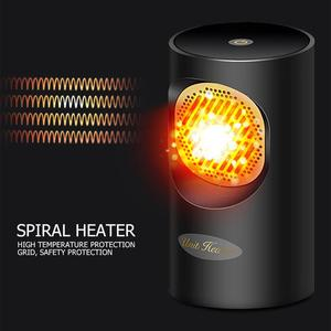 400W Portable Mini 2 in 1 Heating Electric Heater Desktop Warmer Machine for Car Home Office Room Fast Heating and Cooling Fan