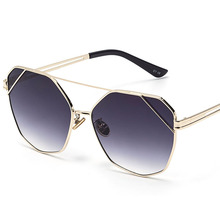 2019 New Sunglasses Women Ladies Square Pilot Luxury Designer large Frame Wholesale oculos okulary 18624