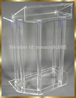 Free Shipping Beautiful Acrylic Podium Pulpit Lectern Podium Plexiglass