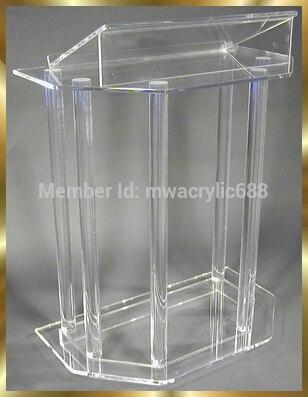 Mobilya'ten Resepsiyon Masaları'de Ücretsiz kargo güzel akrilik podyum minber kürsü podyum pleksiglas title=