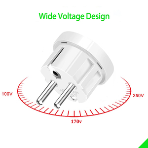 Image 3 - Travel EU plug Converter Adapter 250V AC Travel Charger Wall Power Plug Socket With Home Adapter
