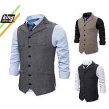 Vests Dress Waistcoat Gilet Business-Jacket Formal Male Casual Mens Sleeveless Slim-Fit
