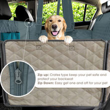 Pet Carrier Car Rear Back Seat Dog Car Seat Cover Vista Della Maglia Impermeabile Zerbino Amaca Cuscino Protector Con La Chiusura Lampo E tasche(China)