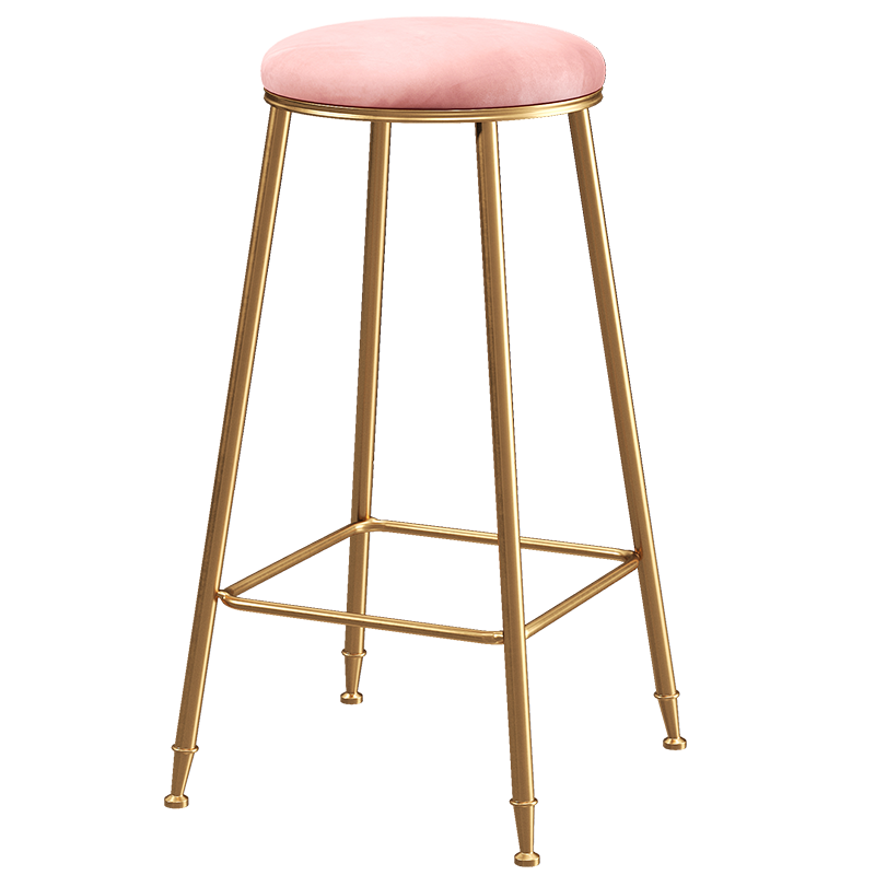 Nordic Post Home Leisure Bar Chair Stool Cafe Restaurant Bar Table Simple Light Luxury High Chair Round Stool