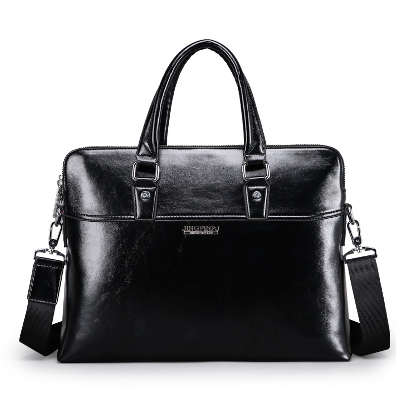 New Luxury Cow Real Genuine Leather Business Men's Briefcase Male Fashion Shoulder Bag Men's Messenger Bag Tote Computer Handbag