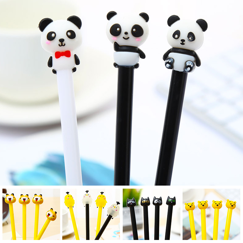 Creative Kawaii Panda Garfield Cat Anime Totoro Gel Pen Koala Chicken Bear Office School Accessory Cute Things Kawai Stationary