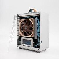 Beste HTPC Fall Computer Mini-ITX Fall Aluminium Gamer Kühler Schrank PC Mini Leere Koffer Loli1 A4 Chassis