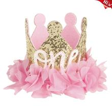 2019 New Cat Birthday Hat Decorative Crown Shape Pet Headband Dog Headwear Pet Hair Accessories for Dogs Cats Party Birthday