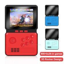 وحدة تحكم ألعاب فيديو ريترو محمولة ، 16 بت ، 3.0 بوصة M3 ، وحدة تحكم صغيرة مع 900 لعبة كلاسيكية مدمجة