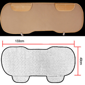 Image 3 - Car Seat Coves Protector Mat Auto Rear Seat Cushion Fit Most Vehicles Non slip Keep Warm Winter Plush Velvet Back Seat Pad