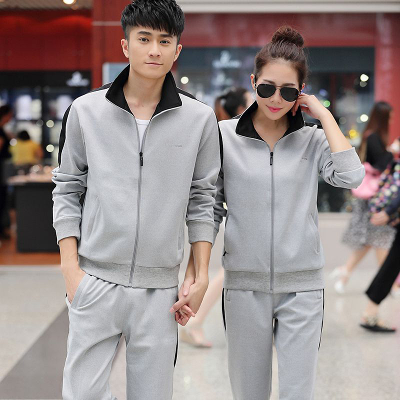 338 Spring And Autumn Couples Sports Set Men's Women's Long-sleeve Sportswear Couples Sports Set