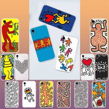 YNDFCNB Keith Haring art Hard Customer Phone Case For iPhone X XS MAX 11 11 pro max 6 6s 7 7plus 8 8Plus 5 5S XR SE 2020 image